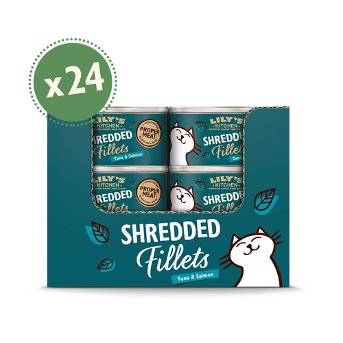 Tuna with Salmon Shredded Fillets (24 x 70g)