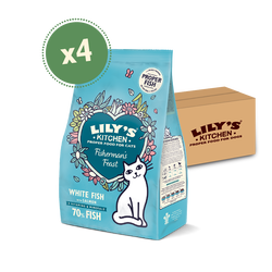 White Fish & Salmon Dry Food (4 x 800g)