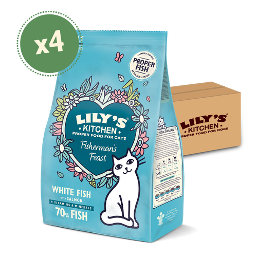 White Fish & Salmon Dry Food (4 x 2kg)