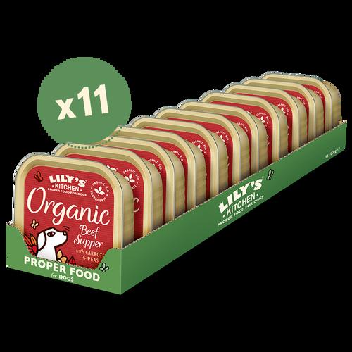 Organic Beef Supper (11 x 150g)