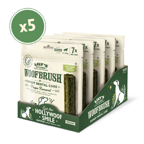 Medium Woofbrush Dental Chew (5 x multipacks)