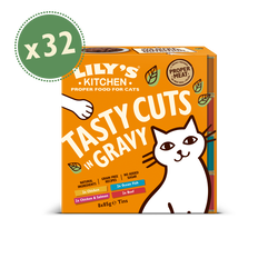 Tasty Cuts in Gravy 32 x 85g Multipack