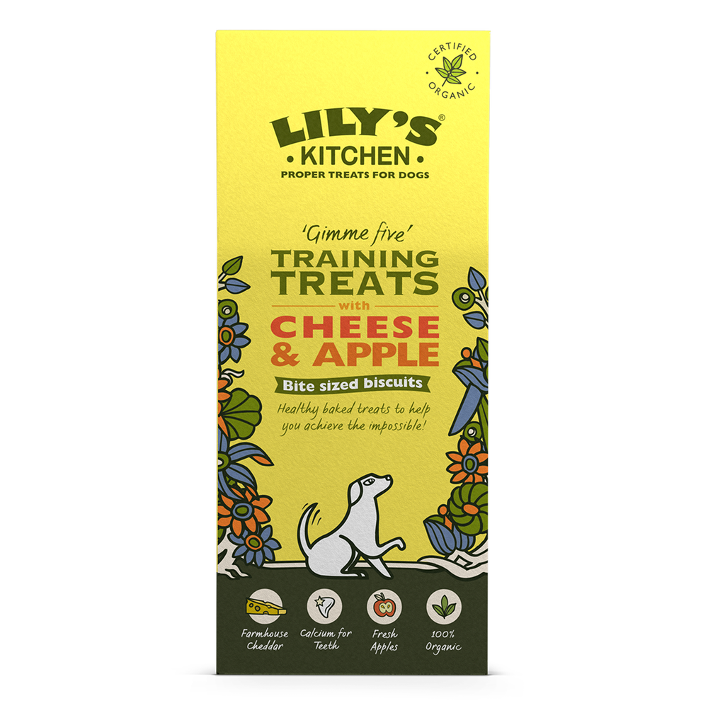 organic cheese and apple training treats - Lilys Kitchen