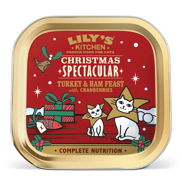 Christmas Turkey Amp Ham Feast For Cats Lily S Kitchen