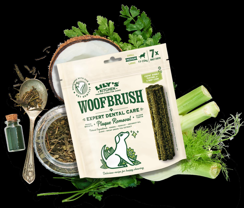 coconut oil, parsley and fennel dog dental chew